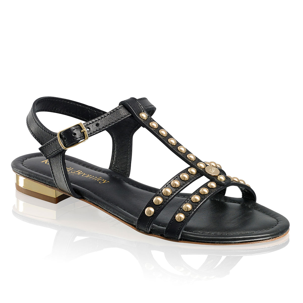 Russell And Bromley PIAZZA Stud Trim Sandal
