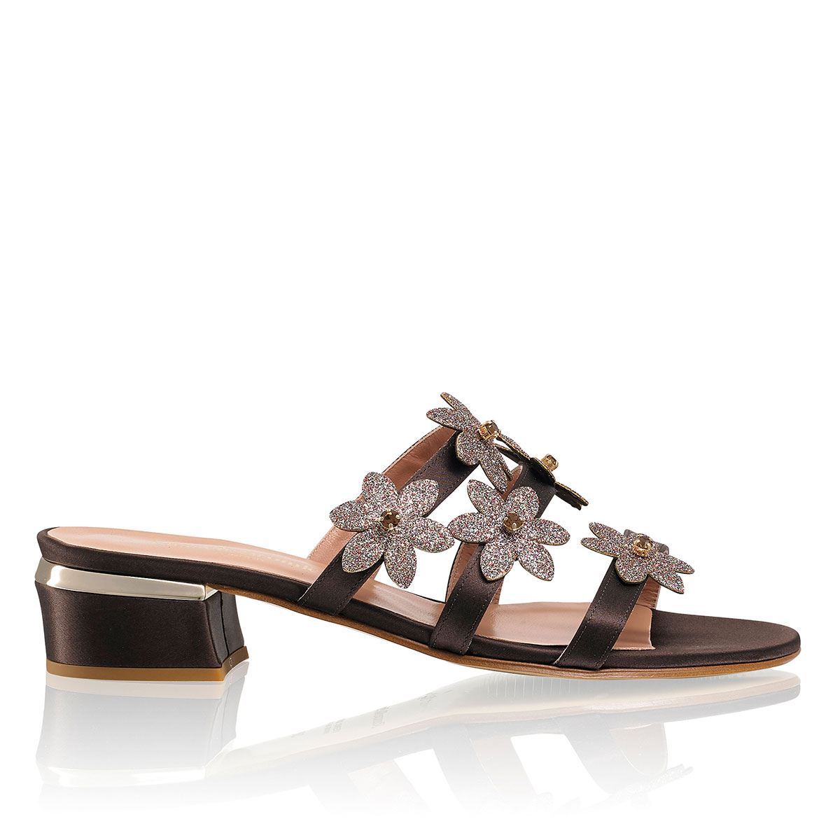 Russell And Bromley BOUQUET Flower Embellished Mule