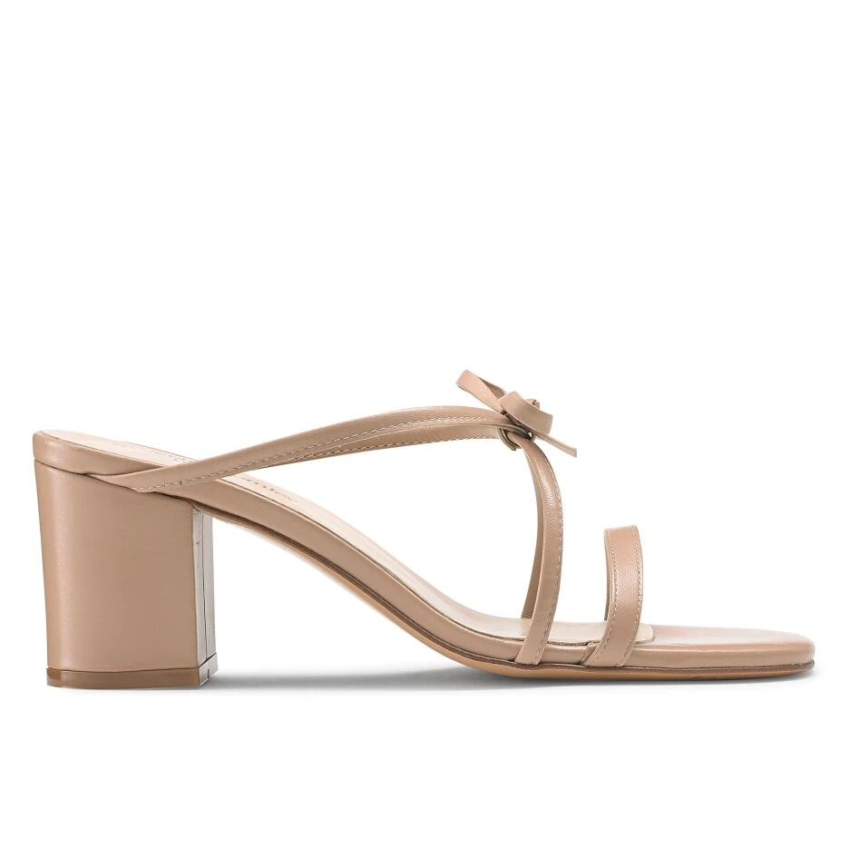 Russell And Bromley GIFT WRAP Bow Strappy Block Heel